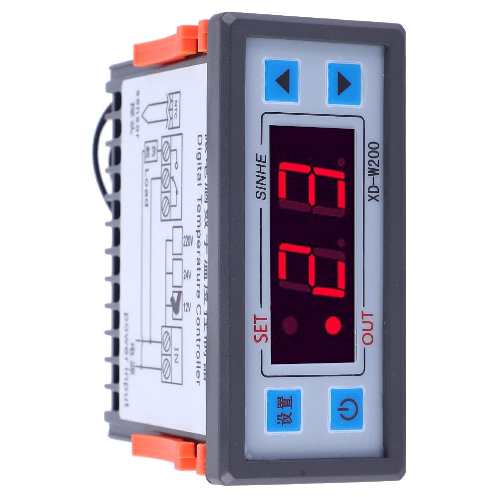 LCD Temperaturregler Thermostat Controller Digitaler Temperatur Regler XD-W200