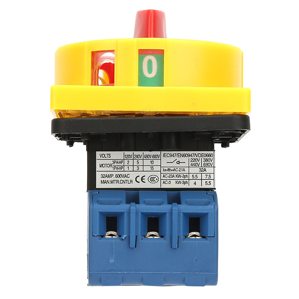 25A//32A Load Circuit Breaker Switch 3-Pole 2-Position On-Off Power Switch Kit