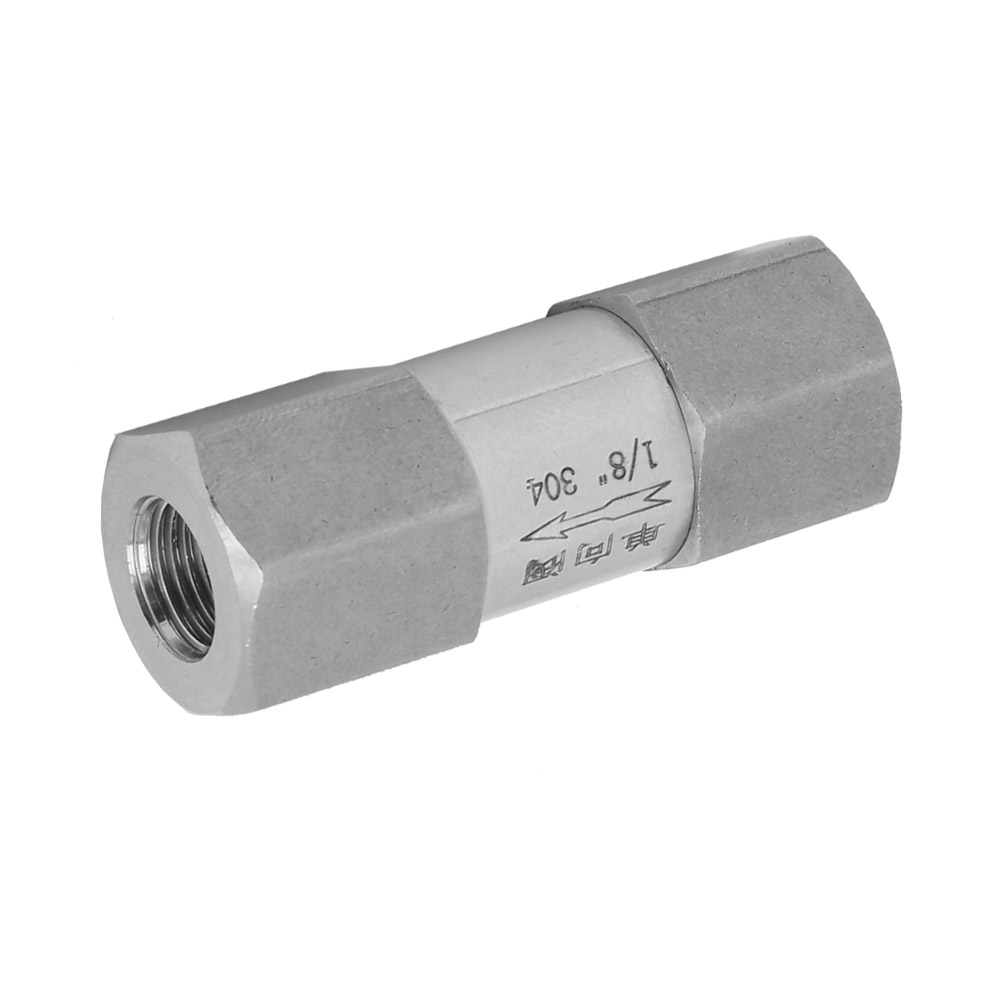 304 Stainless Steel Hex Split Check BSPP Valve Strong Connection One-Way Valve