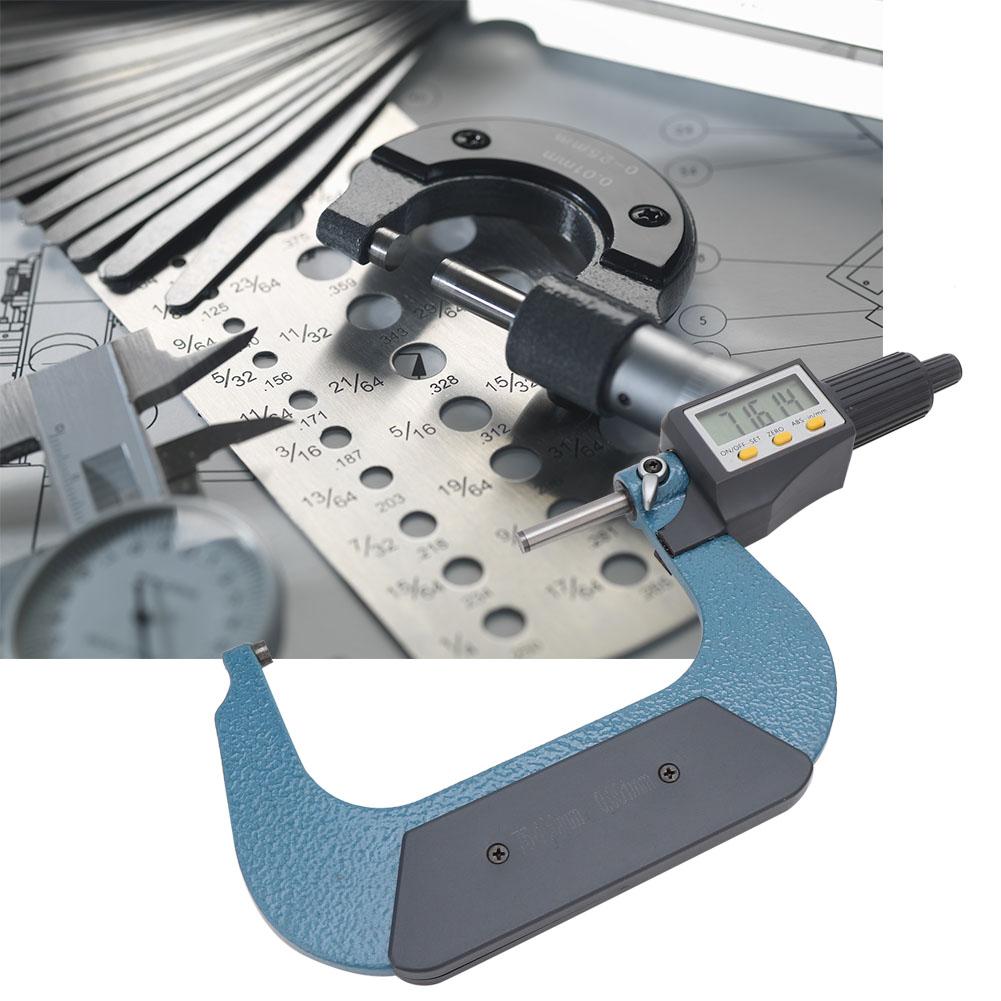 0.001mm Hochpräzise Bügelmessschraube Digital Mikrometer Messschraube Werkzeug