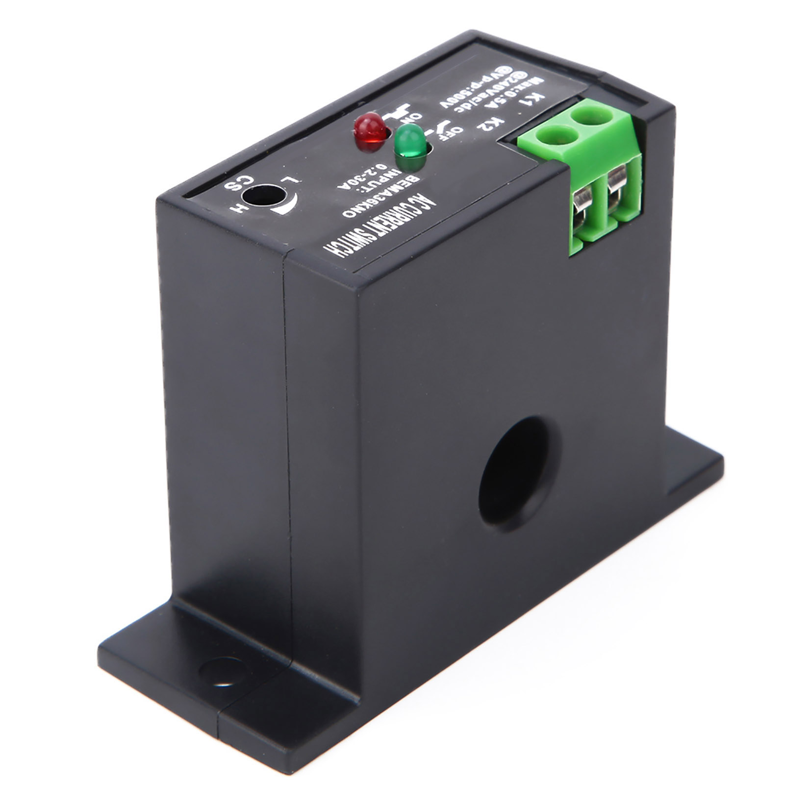 Normally Open//Closed Current Sensing Switch Control Adjustable AC 0.2-30A LJ
