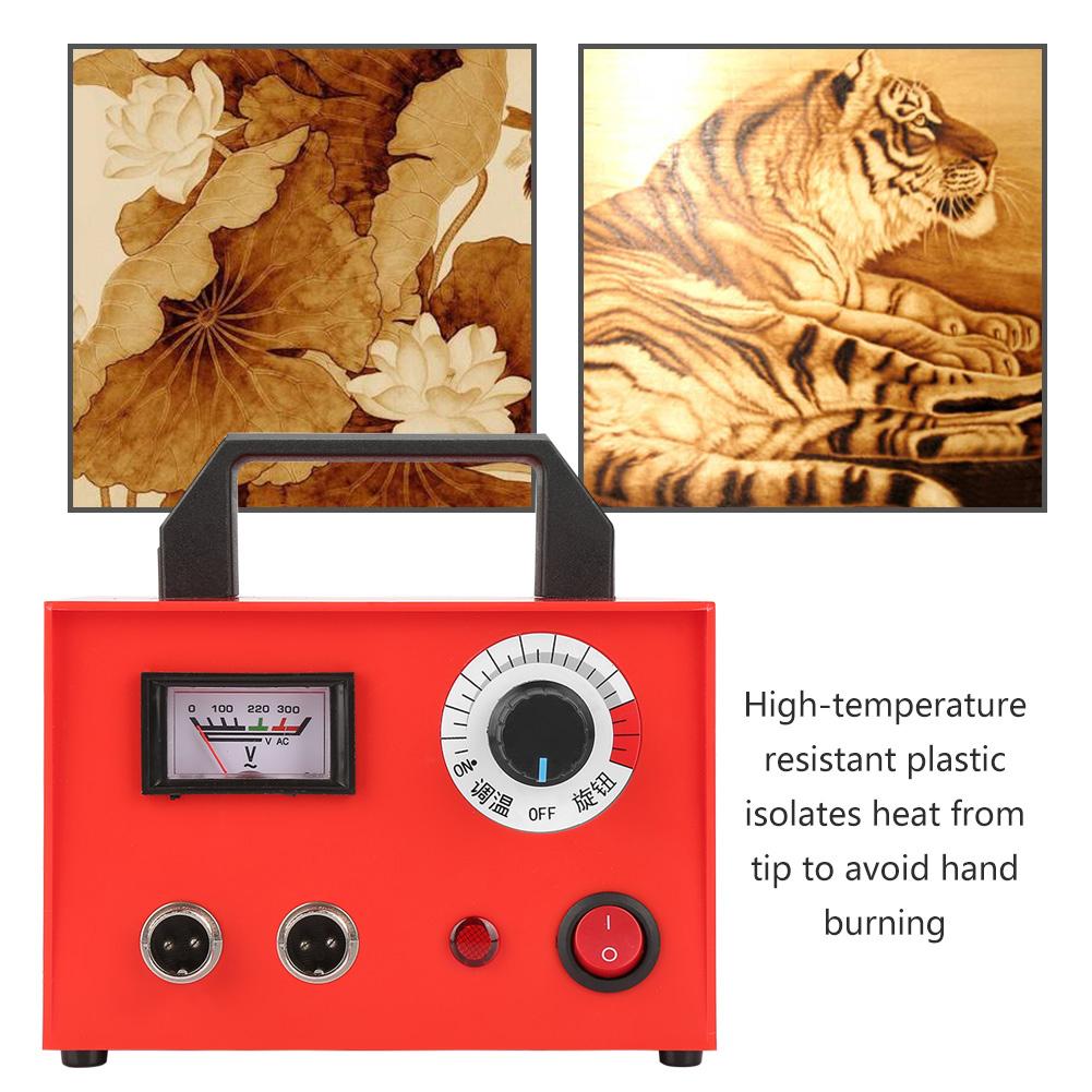 25W//50W//60W Pyrography Pen Machine Kit Set Wood Burning Draw Tips Crafts Tools