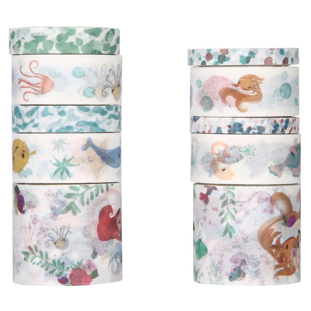 10 Rollos//Caja Hermosa Adhesivo Etiqueta De Papel Washi Decorativas para álbum de Recortes Pegatinas