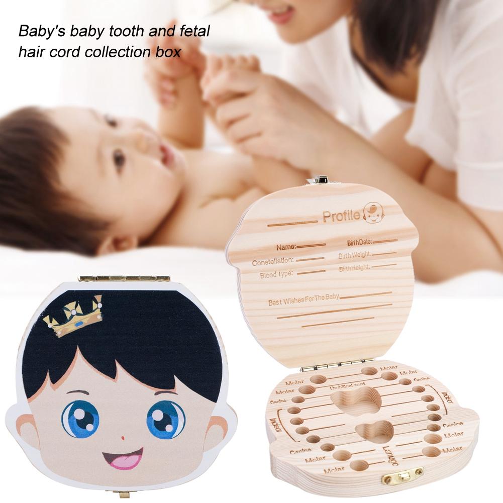 Kids Boy/&Girl Wood Tooth Box Organizer Milk Teeth Storage Baby Save Custom Made