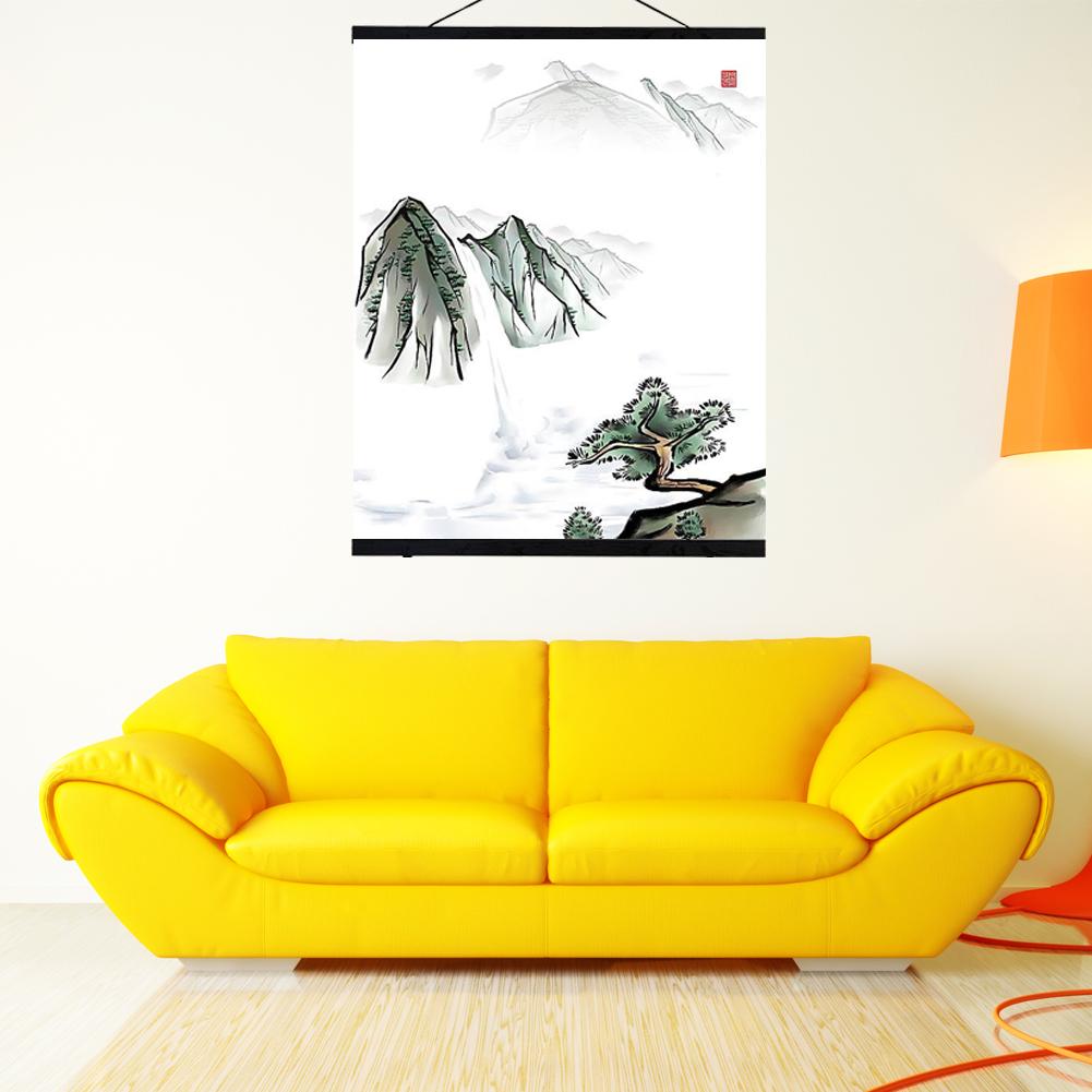 Modern Magnetic Wooden Photo Frame Custom Poster Scroll Print Artwork 21-50CM SY