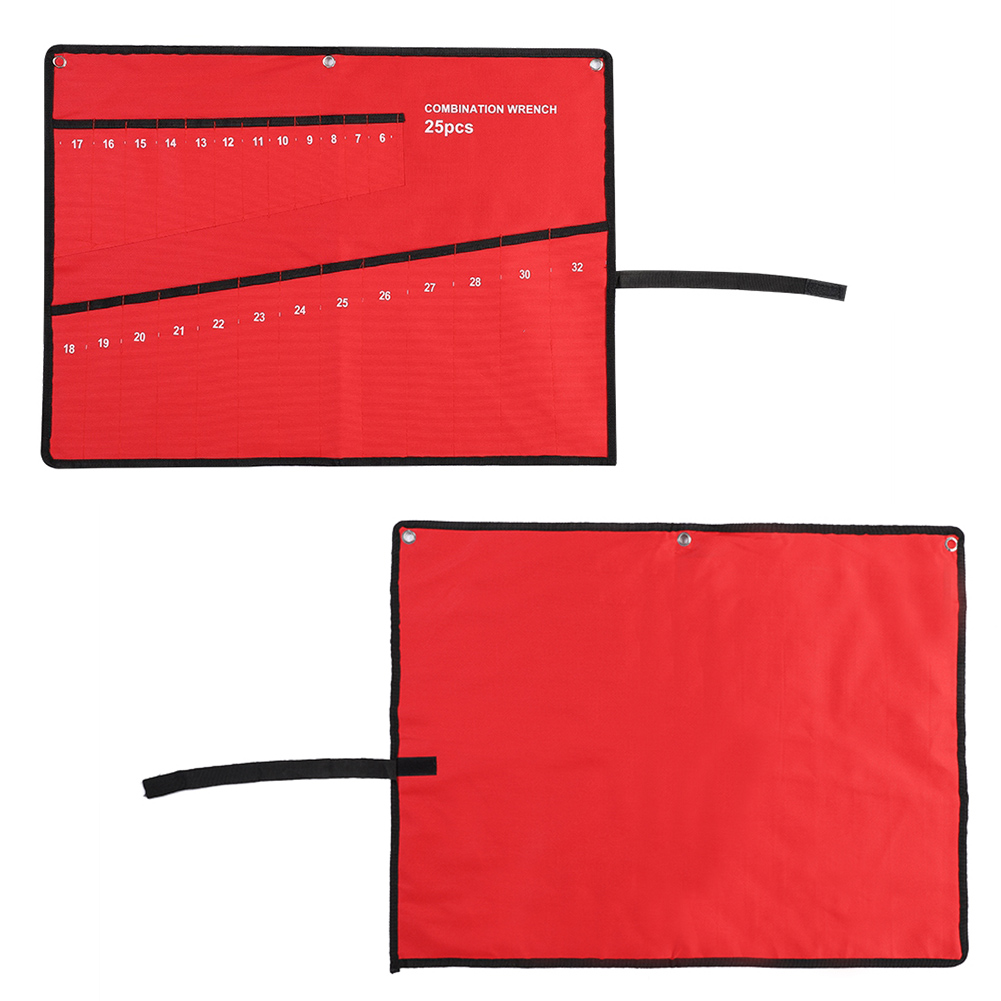 Canvas 10//14//25 Roll up Tools Spanner Wrench Storage Bag Pocket Organizer Pouch