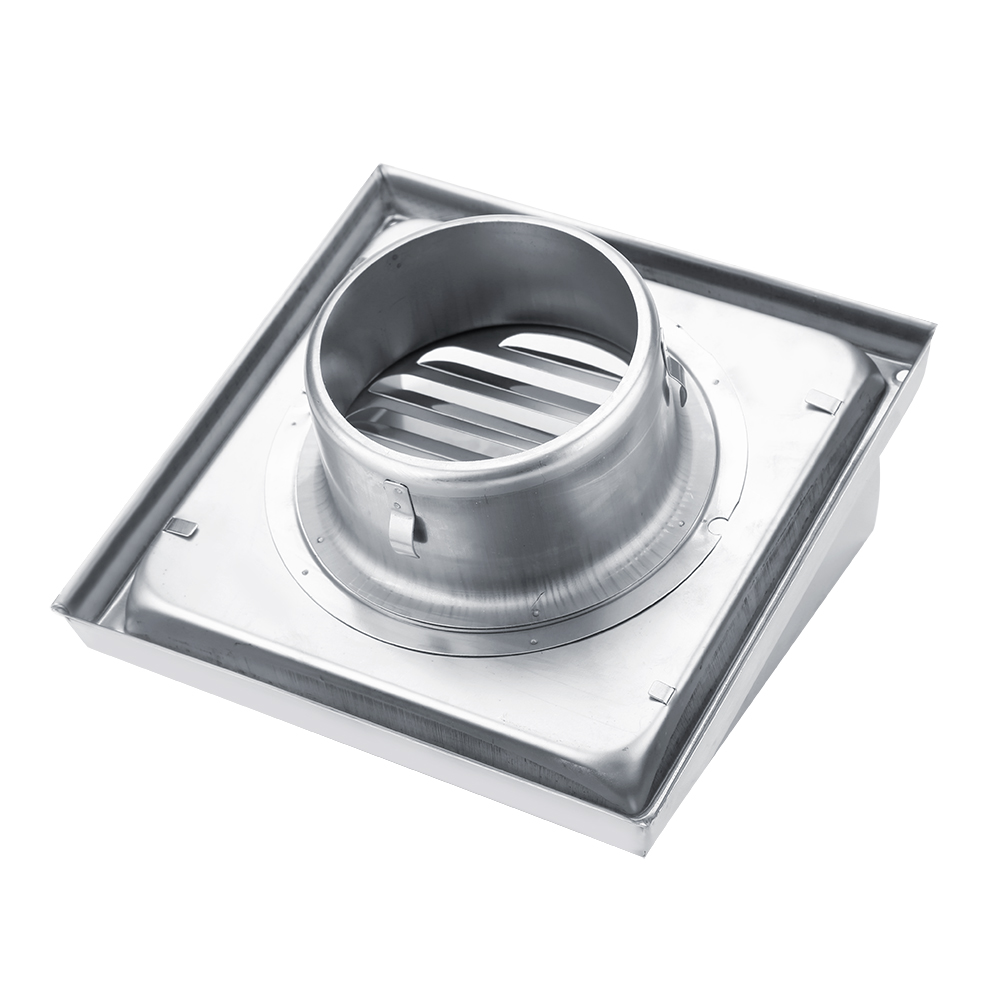 Stainless Steel Wall Air Vent Ducting Ventilation Exhaust Grille Cover Outlet HG