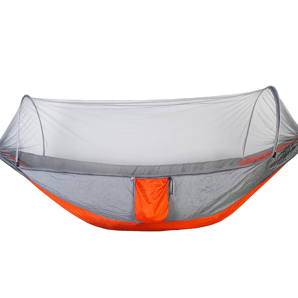 140cm Camping Hängematte Hängebett mit Moskitonetz Portable Einzel/Doppel 290 Schlafausrüstung