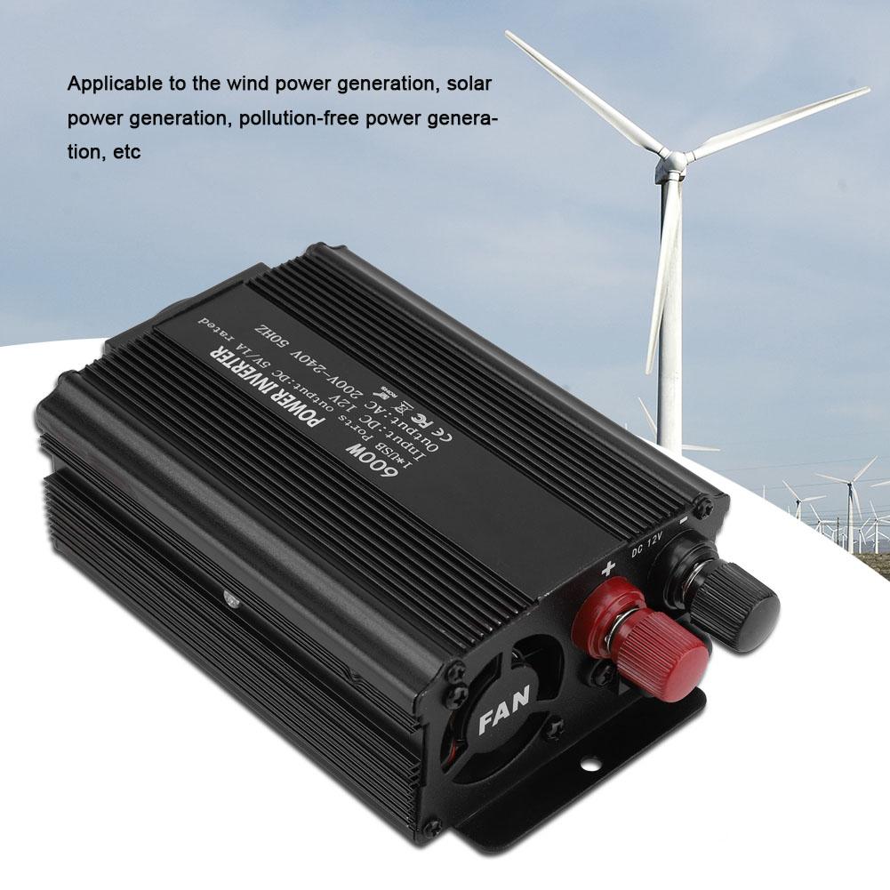 600 Watt Solar Reiner Sinus Spannungswandler 12V 220V Wechselrichter Inverter zy