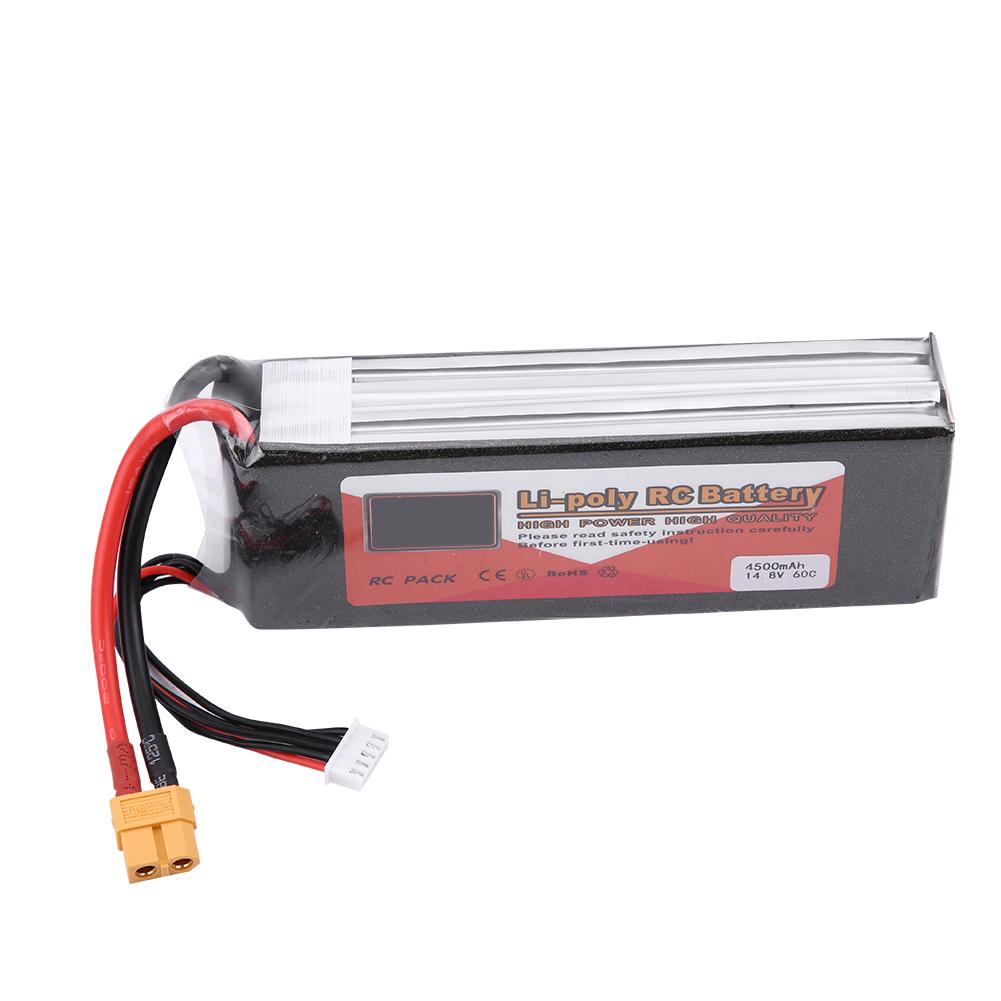 Rechargeable 4S 14.8V 1500mAh 5000mAh 5500mAh LiPo Battery XT60 Plug For RC Car