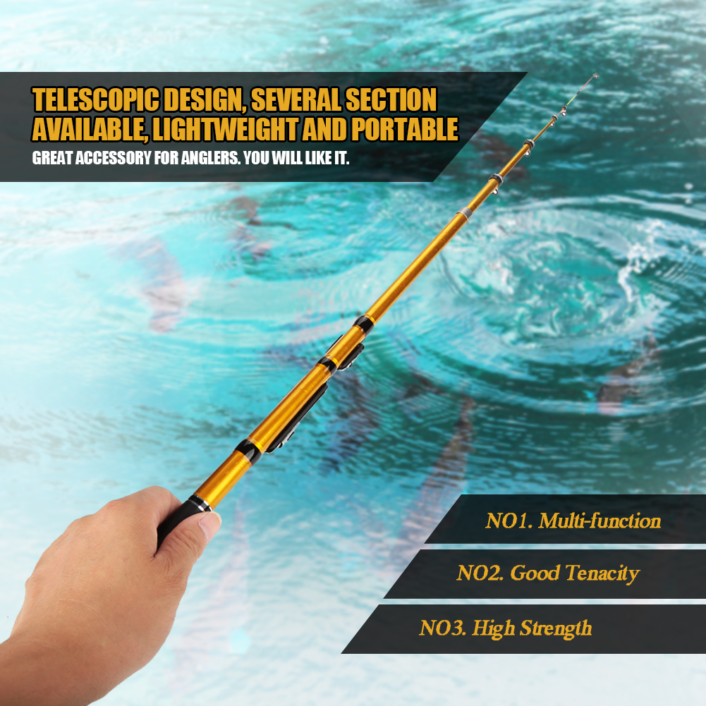 Durable Telescopic Glass Fiber Spinning Fishing Rod Pole Saltwater Freshwater GS