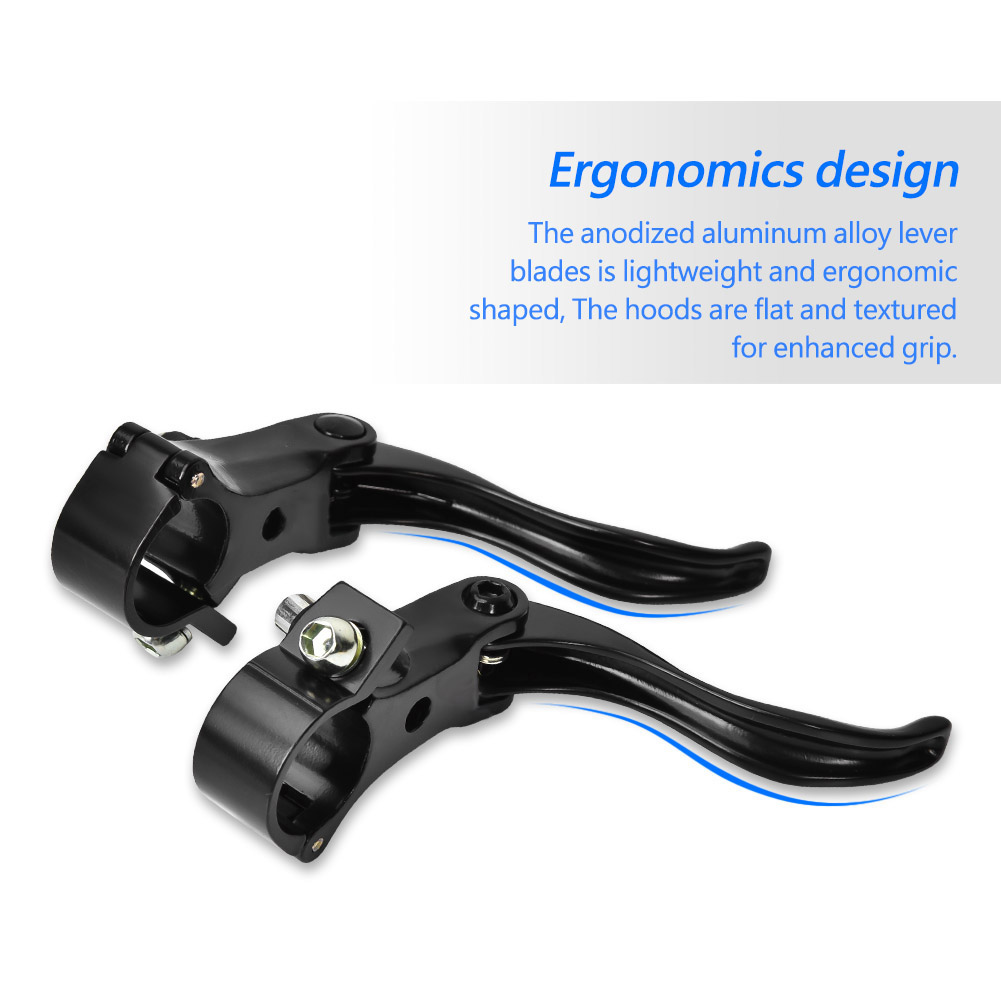 1Pair Bike Brake Lever Cycling BMX Alloy Disc Bar Handle Levers Replacement Part