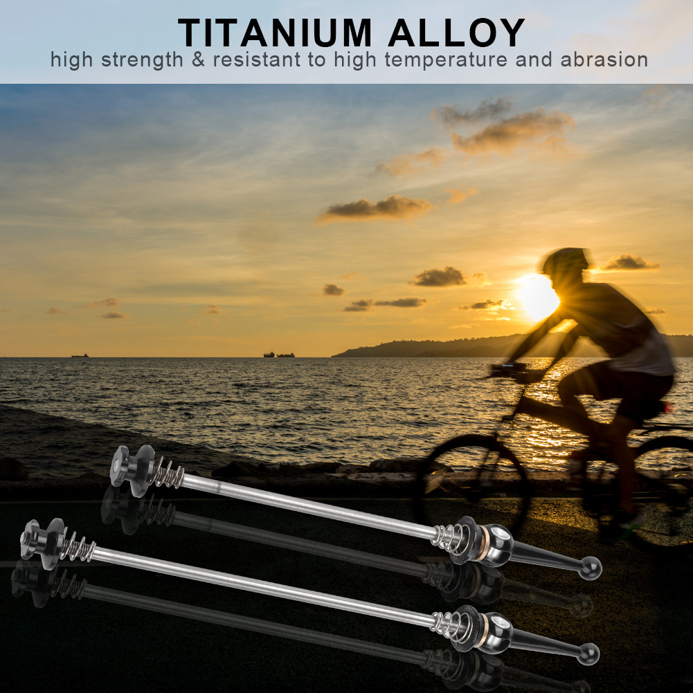 1Pair Mountain Road Bike Front//Rear Axle Skewers Bicycle Shaft Lever 130/&170mm
