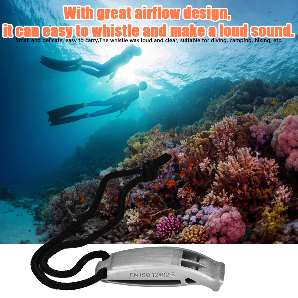 Survival Safety Whistle Scuba Diving in the Emergency Water Sport Trekking W//String