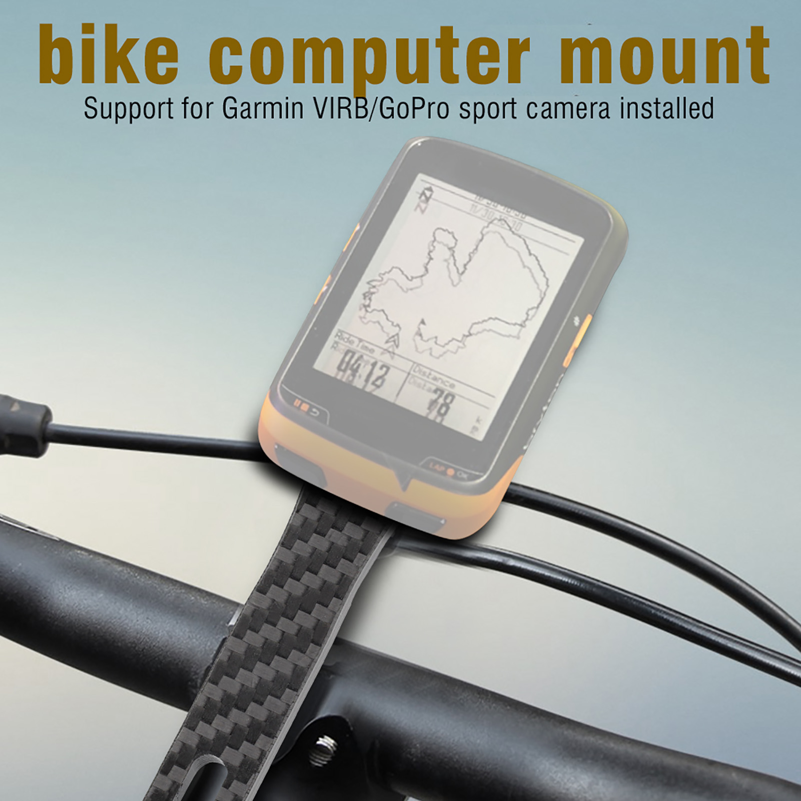 Stem Black DY Cycling Computer Mount Road Bicycle Holder Integrated Handlebar