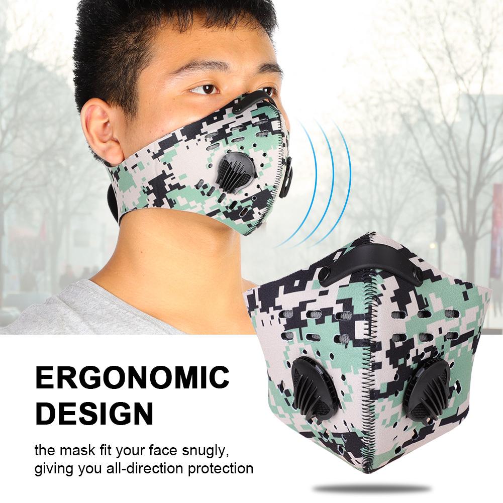 Breathable Motorbike Cycling Neoprene Anti Dust Fog Half Face Mask Filter Valve