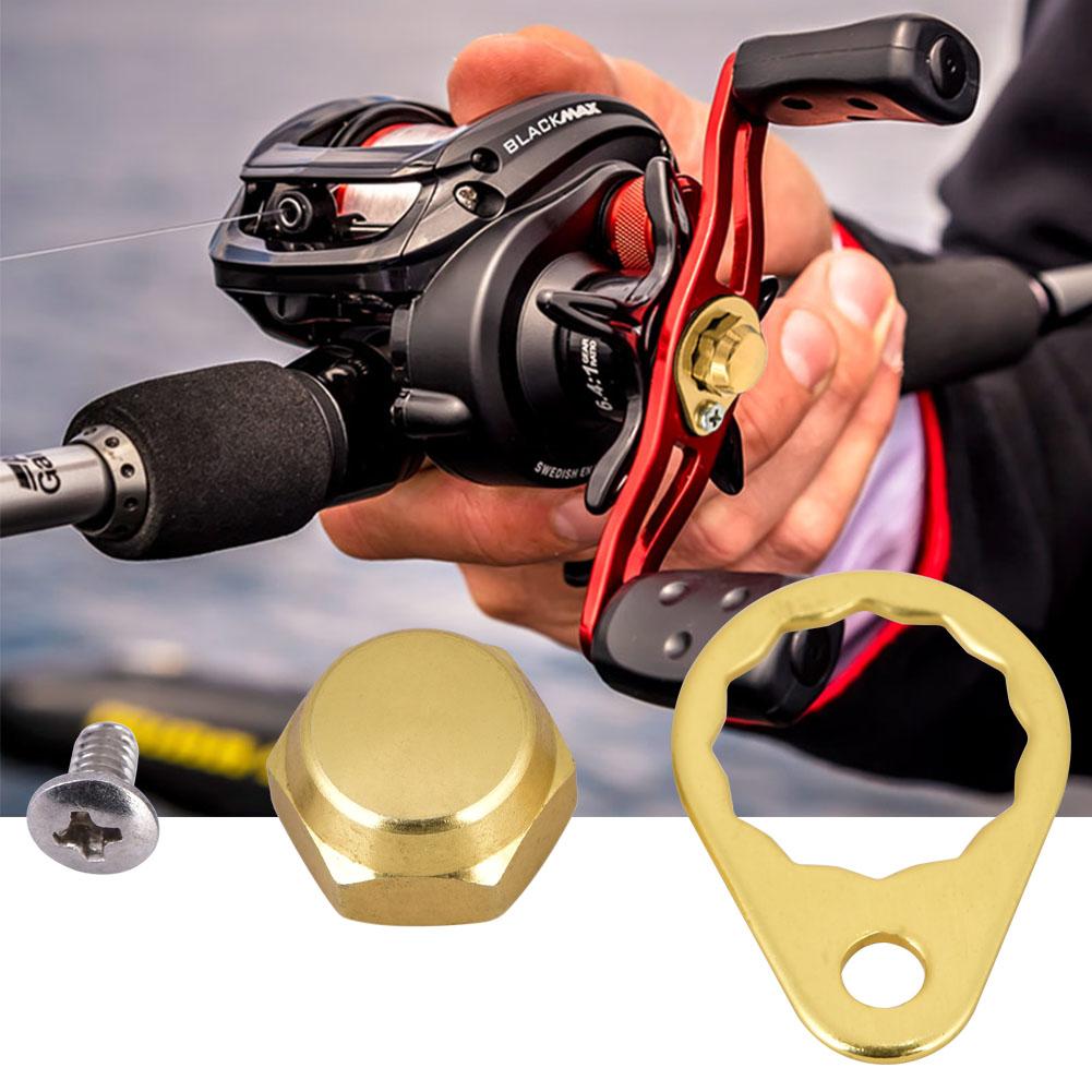 Fishing Reel Handle Parts Screw /& Nut /& Locking Plate For Baitcasting Reels LJ