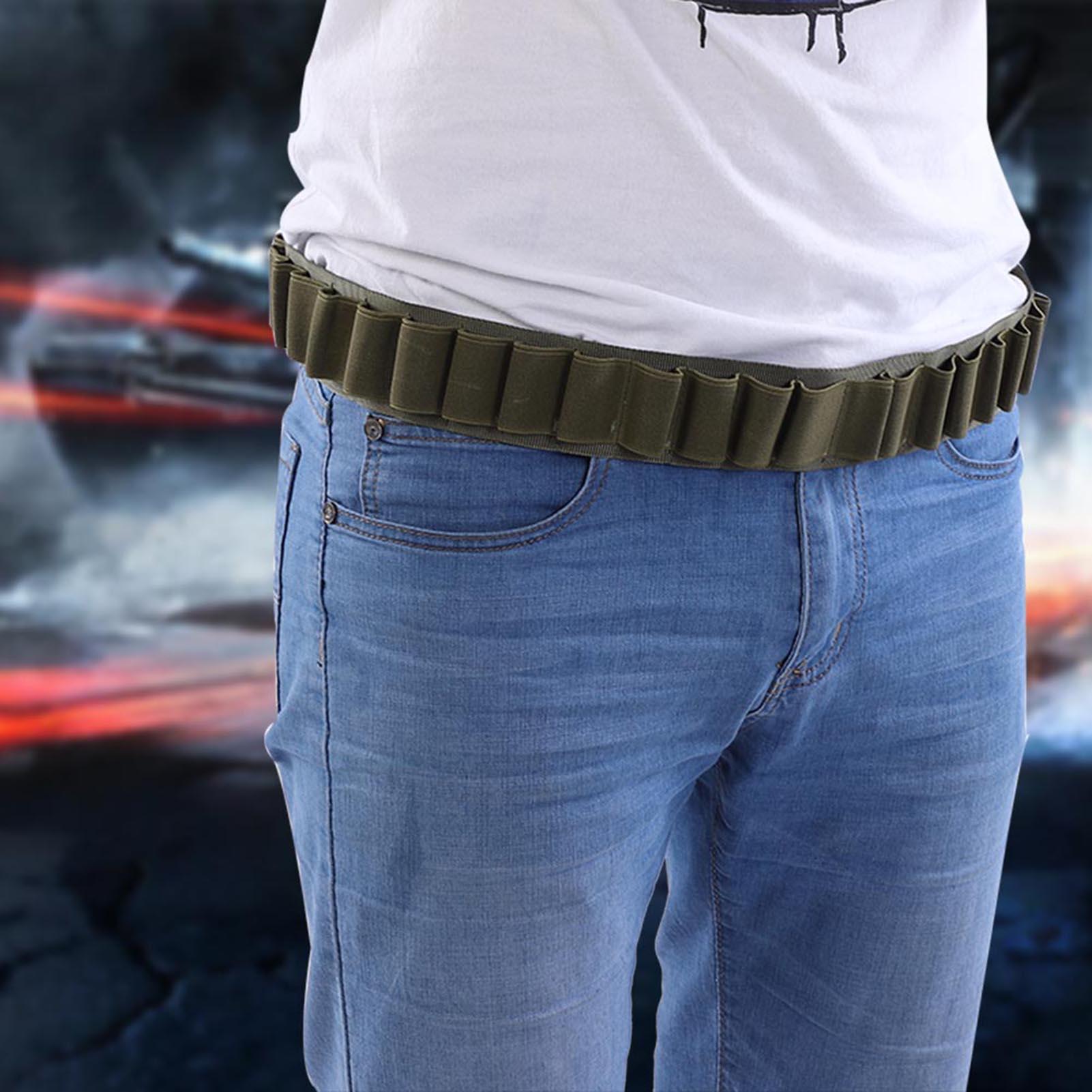27 Round Shotshell 12GA Shotgun Shell Belt Airsoft Bandolier Bullet Ammo Holder