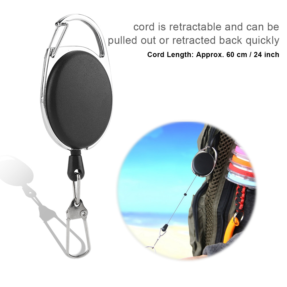 Coarse Trout Fly Fishing Zinger Retractor Tool Clip On Style Accessory ST