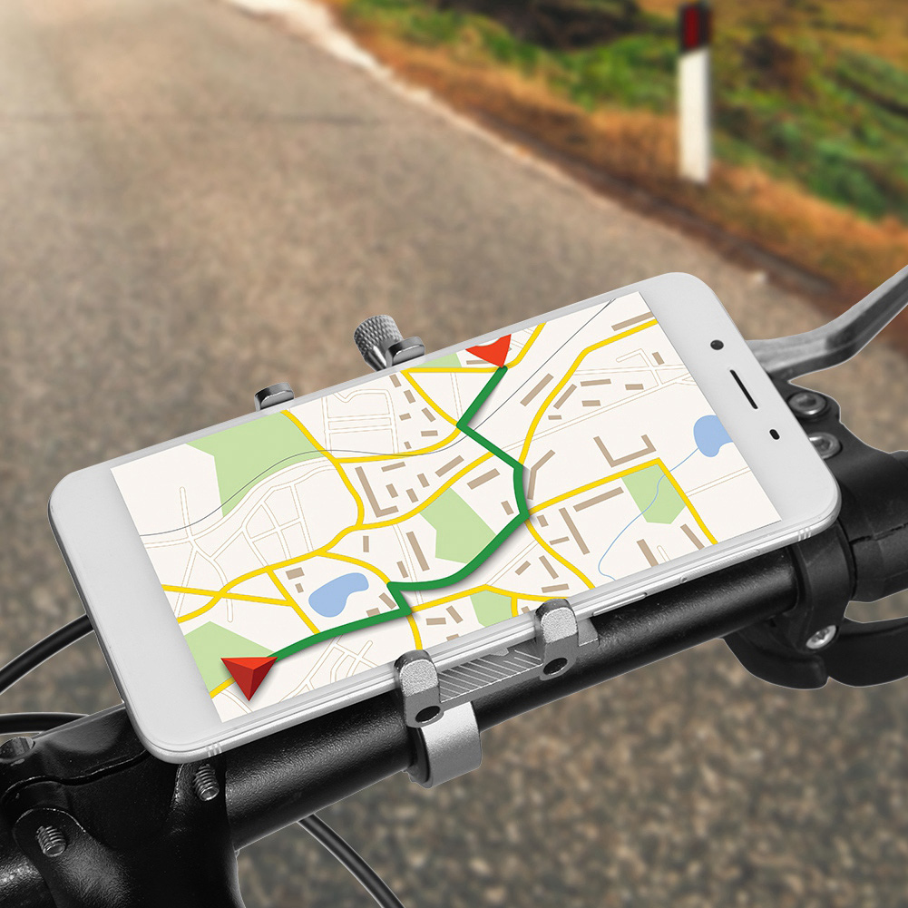 Aluminum Motorcycle Bike Bicycle Holder Mount Handlebar For Cell Phone GPS GL
