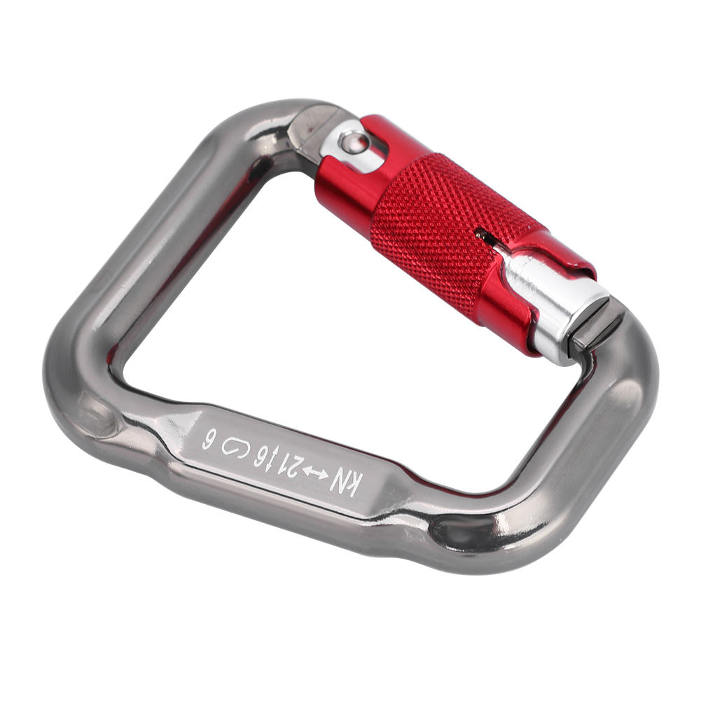 28KN Ideal Aluminum Carabiner D-Ring Key Chain Keychain Clip Hook Outdoor Buckle