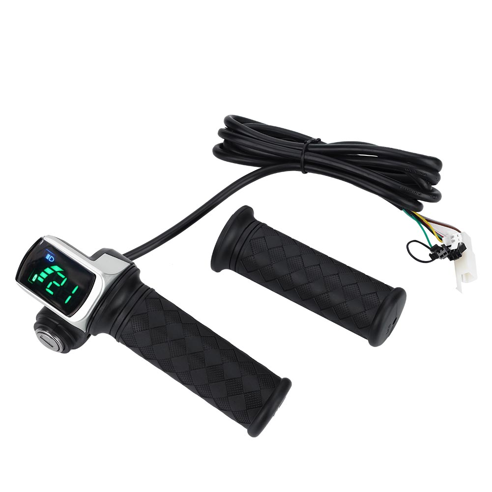 E Bike Twist Throttle Electric Scooter Speed Control LCD Battery Display With ON