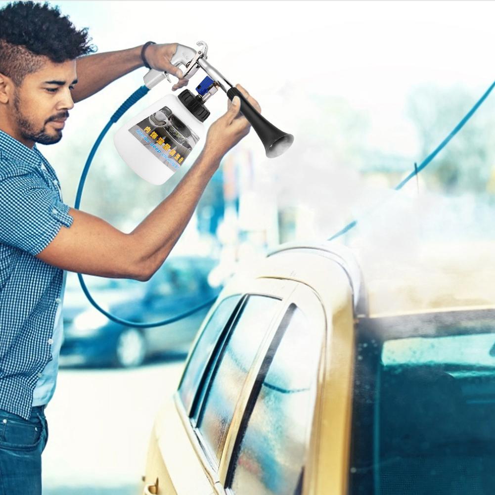 Car Interior Decoration Dry Cleaning Tool Tornado Air Pulse Sprayer Washing Gun
