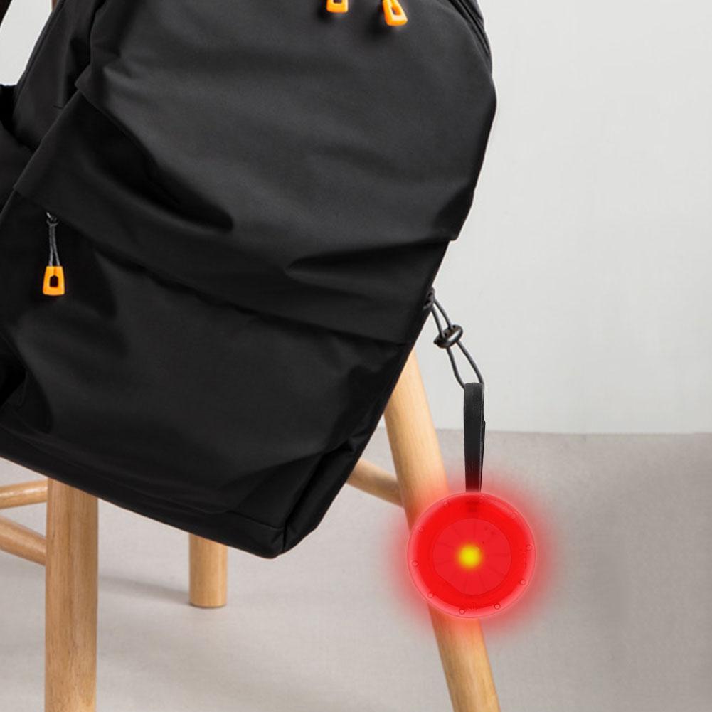 Mini Bicycle LED Lamp Backpack Zipper Light Back Bag Light Accessories PC//PP