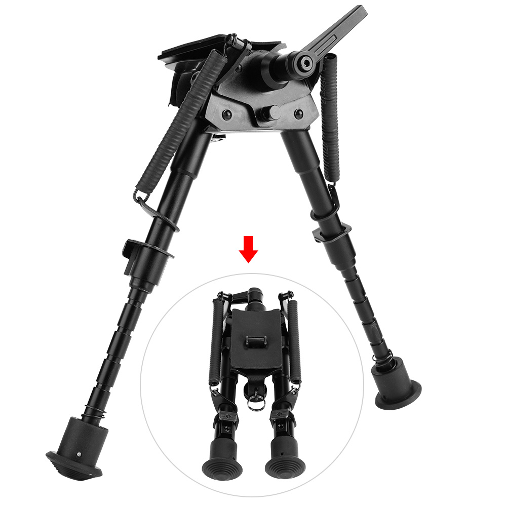 Adjustable Folding Bipod Tactical Rifle Sling Swivel Mount Stand Hunting Gun Leg
