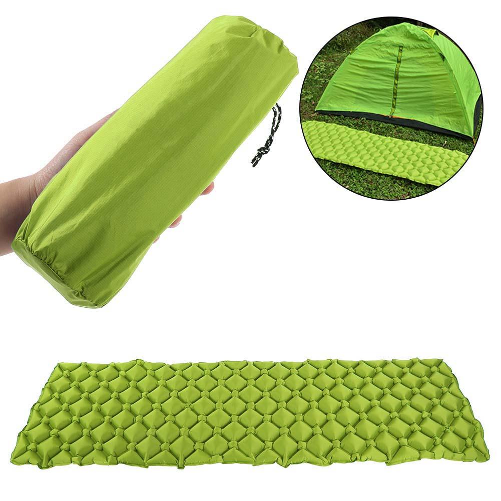 Outdoor Camping Lightweight Inflatable Air Mat Pillow Mattress Pad Sleeping Bed
