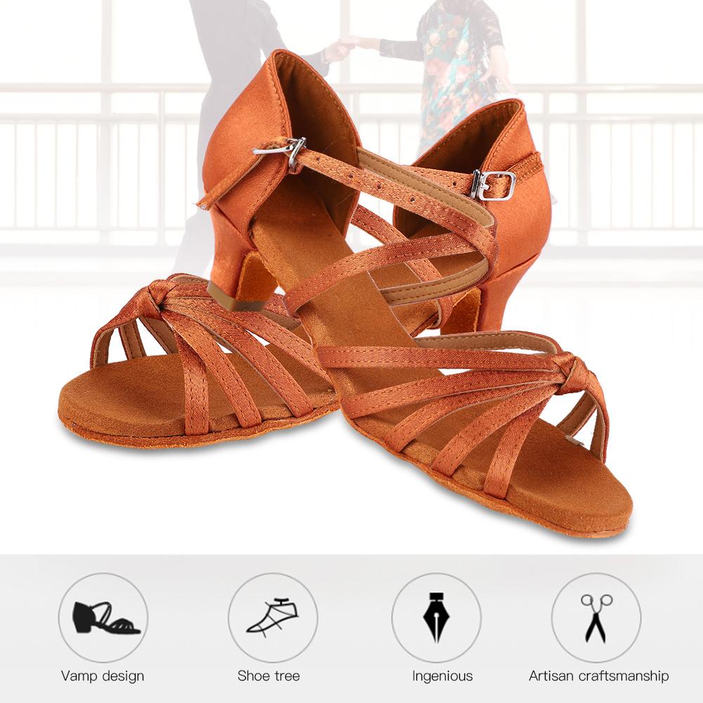 4cm Fashion Women Children Girl/'s Ballroom Latin Tango Dance Shoes Heeled Salsa