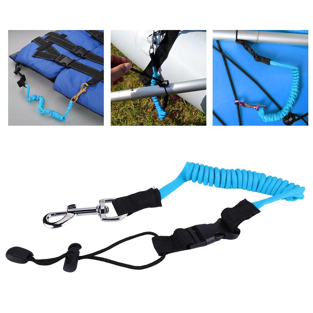 140cm Elastic Kayak Boating Safety Paddle Leash for Kayaking Canoeing Paddling