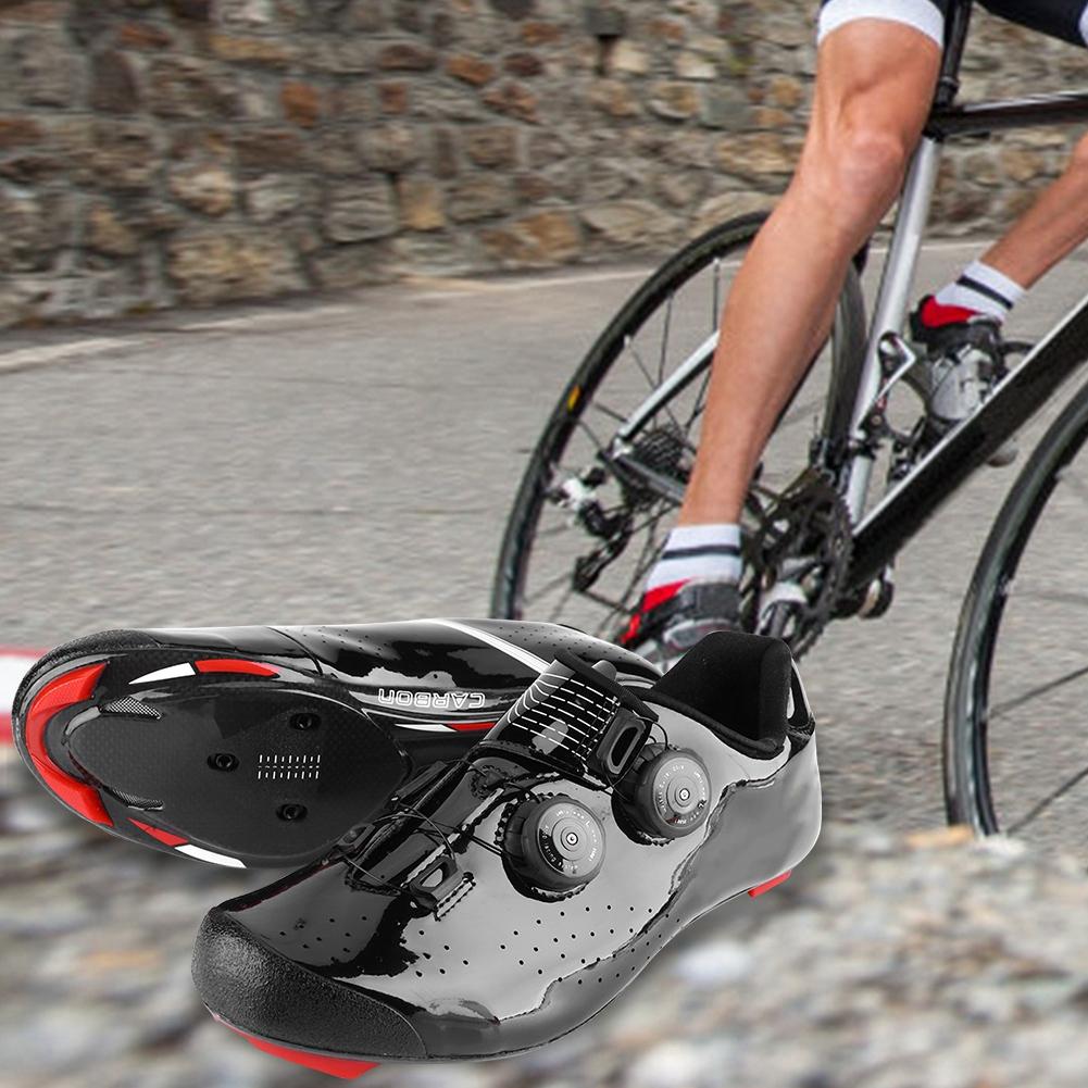 Boodun Cycling Shoes Road Bike Racing Bicycle Men/'s Shoes Carbon Fiber Shoes New