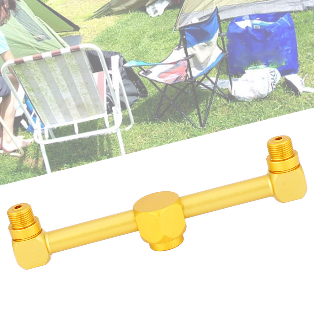 2-in-1 Aluminum Alloy Gas Splitter Outdoor Camping Stove Gas Cylinder Adapter