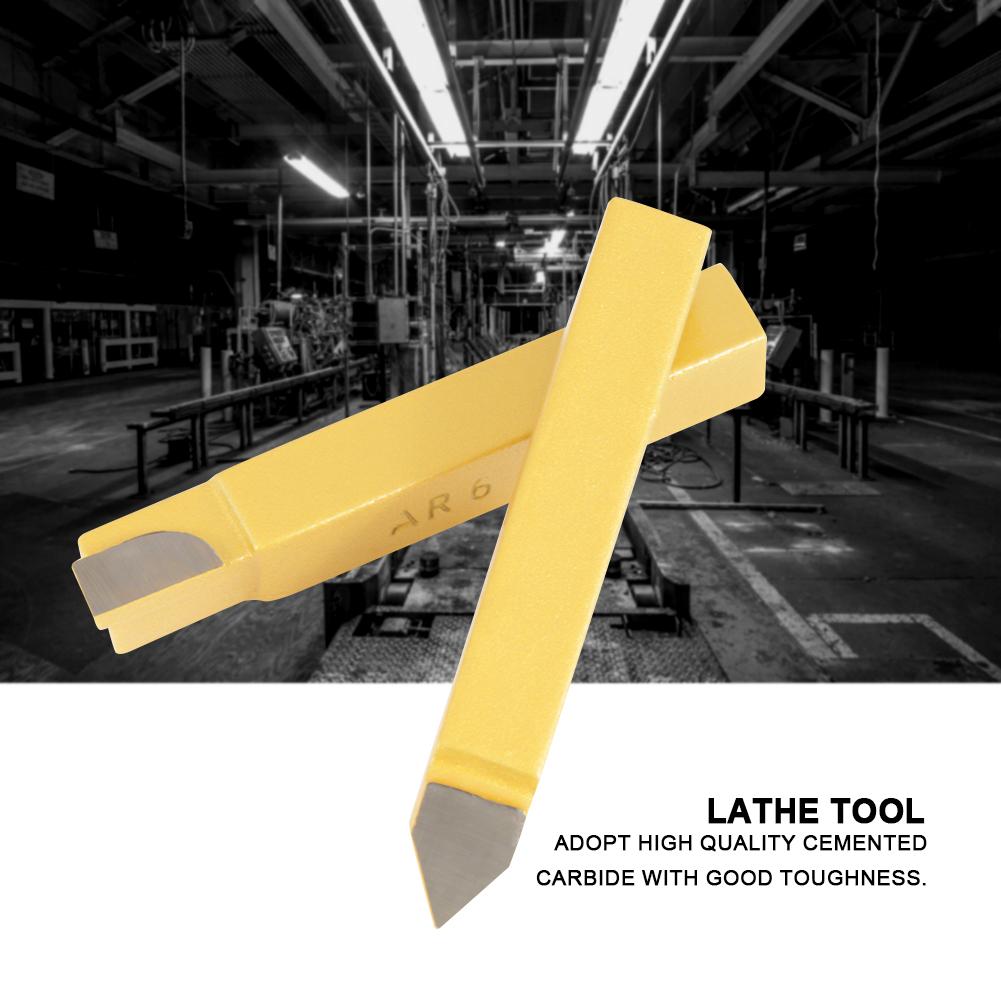 "Carbide Tip Tipped Cutter Tool Bit Cutting Set 1//4/"" 3//8/"" For Metal Lathe Tooling"