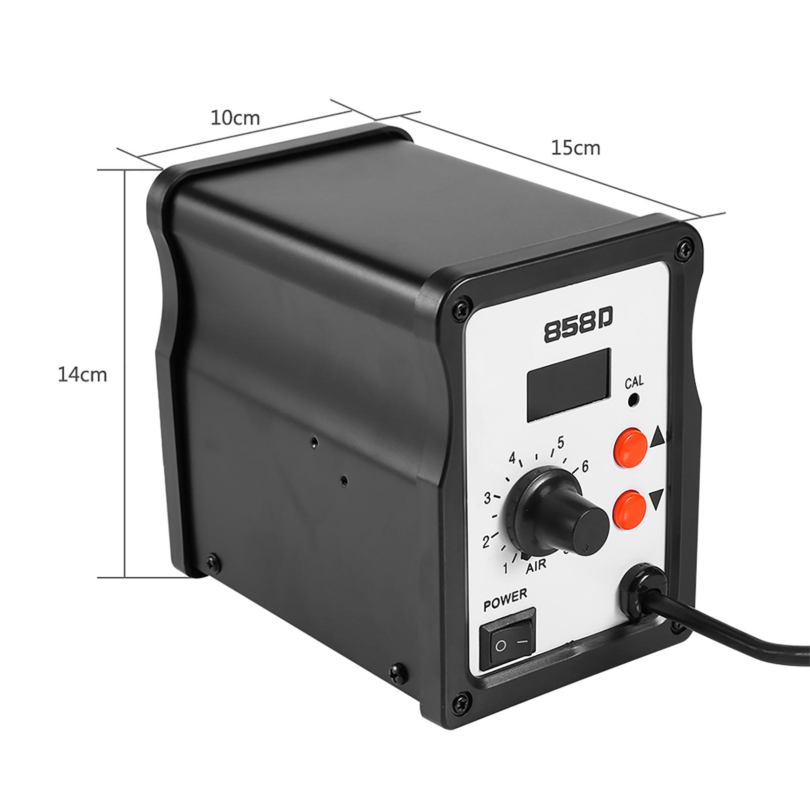 858D Rework Station Hot Air Gun Kit SMD Iron Soldering Solder Holder Tool USA