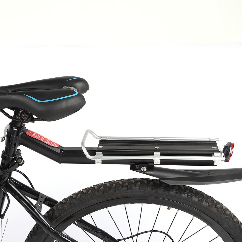 Bicycle Mountain Bike Rear Rack Seat Mount Pannier Luggage Carrier W Tail Light