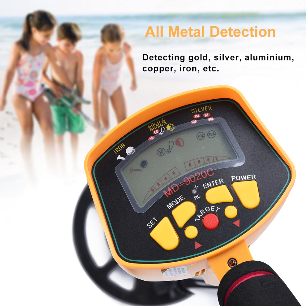 Underground LCD Metal Detector Gold Coil Digger Deep Waterproof Hunter Search