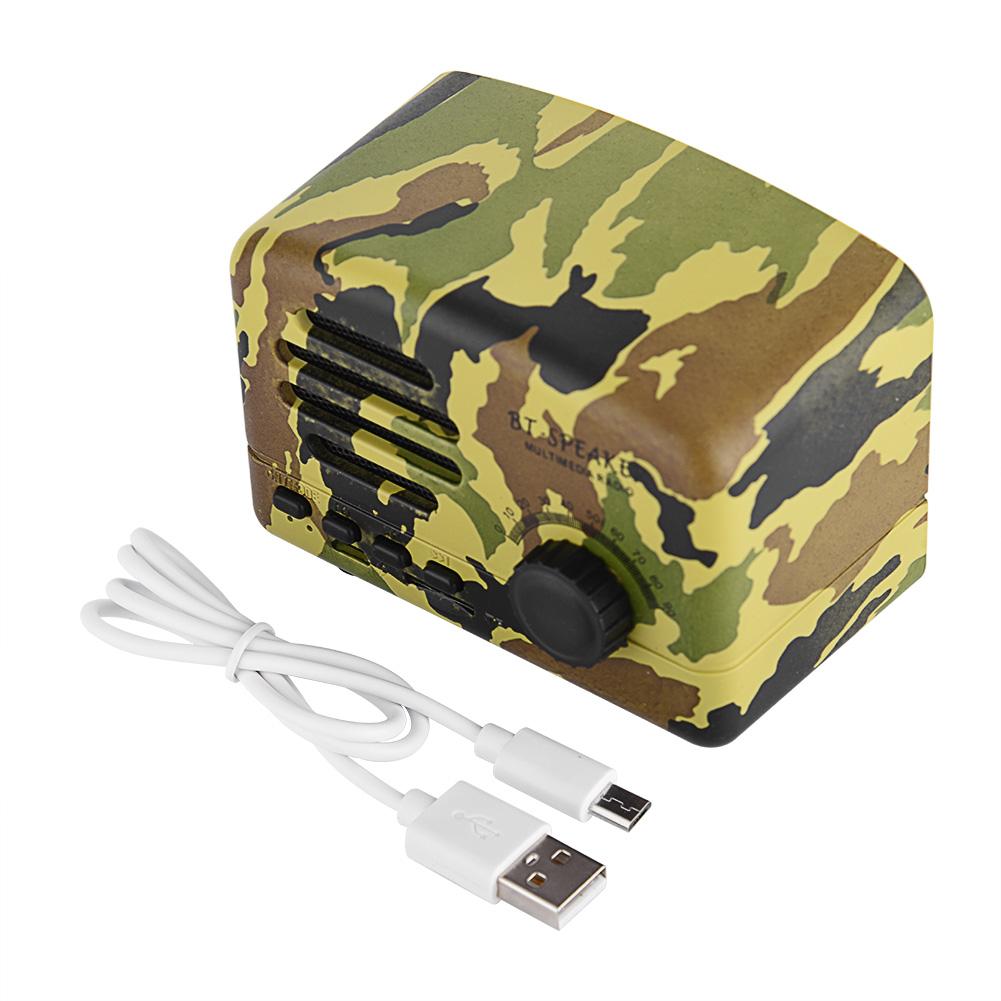 Mini Retro Wireless Bluetooth Speaker Subwoofer Stereo W// Mic FM Radio TF MP3 SP
