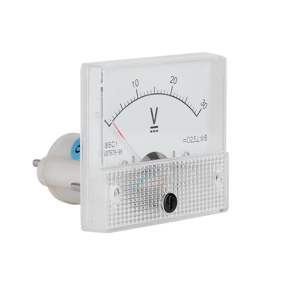 85C1 Gleichstrom Analog Panel Meter Spannungsmesser Strommesser Für Experiment