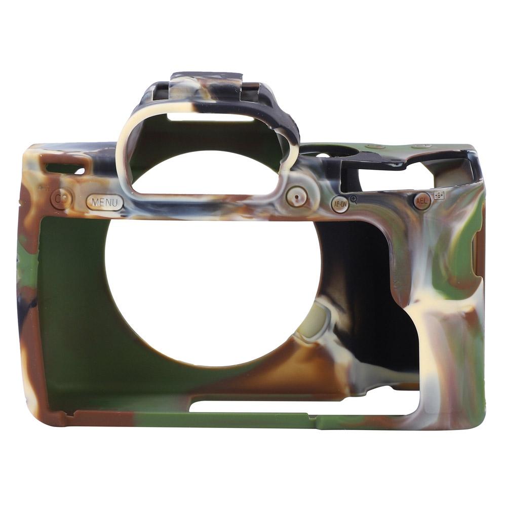 Jaula de caso de silicona suave cubierta protectora para para Sony A7//A7R3//A7 Mark III III