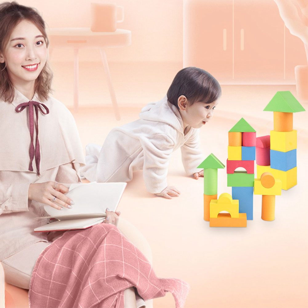 41Pcs Educational Brick Wooden Building Blocks Toy Set Classic Toys Kids Games