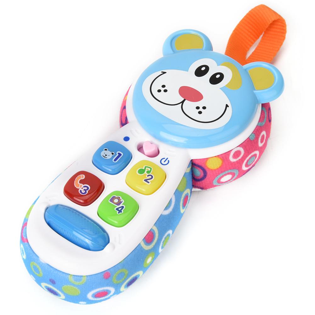 Batterie Telefon Spielzeug mit Licht und Musik für Baby pädagogisches Spielzeug