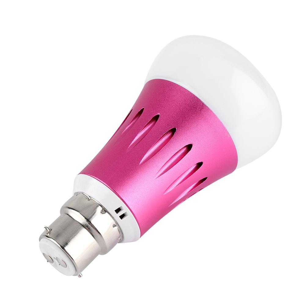 Smart LED Light Bulb Dimmable RGB E14 E27 B22 7W Lamp For Alexa Google Home