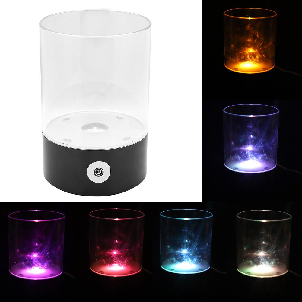 Himalayan Salt Lamp Natural Crystal Rock Dimmable Night Light 7-color Changing