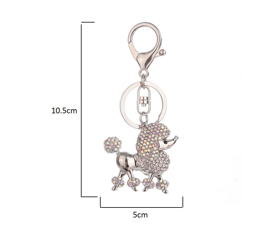 Handbag Keychains Crystal Rhinestone Charm Keyring Bag Purse Pendant Key Chain