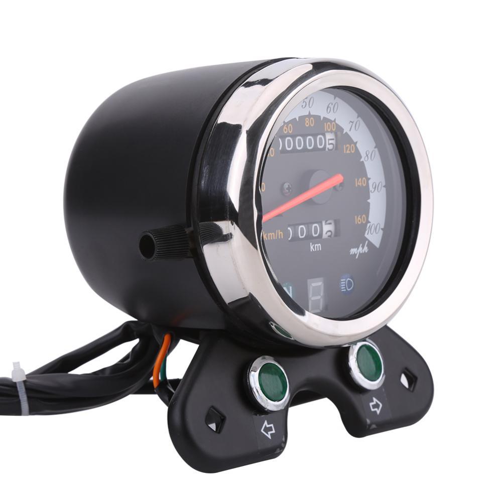 Contachilometri Moto Chilometraggio Contagiri Doppio Tachimetro Digitale Nero