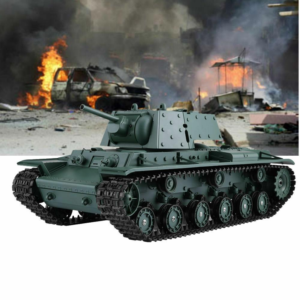 Tanque RC Heng Long 3878-1 1 16 KV-1 soviéticos simulación Blindado Con Sonido Modelo Rtr