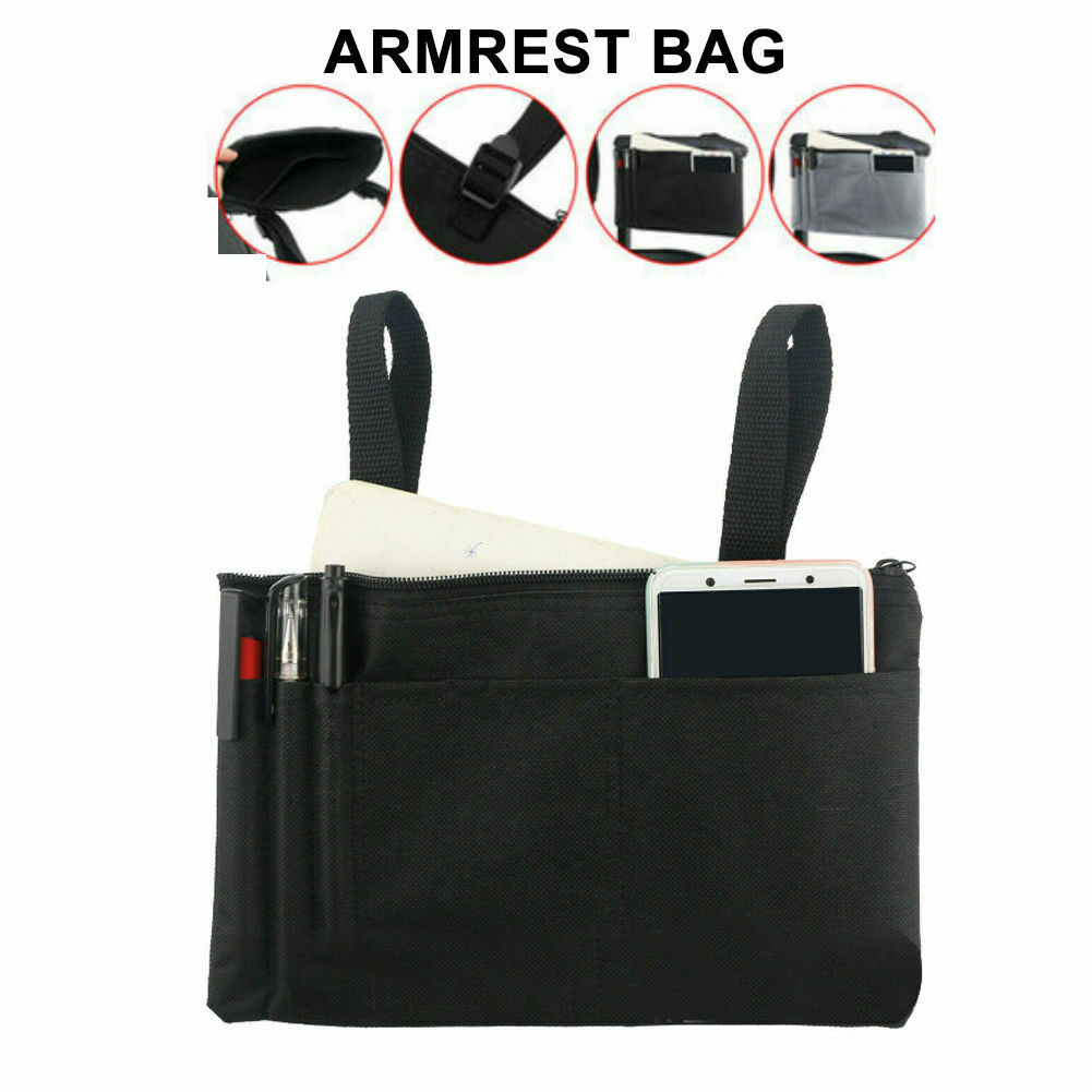 Waterproof-Wheelchair-Mobility-Scooter-Armrest-Pouch-Organizer-Phone-Storage-Bag thumbnail 18