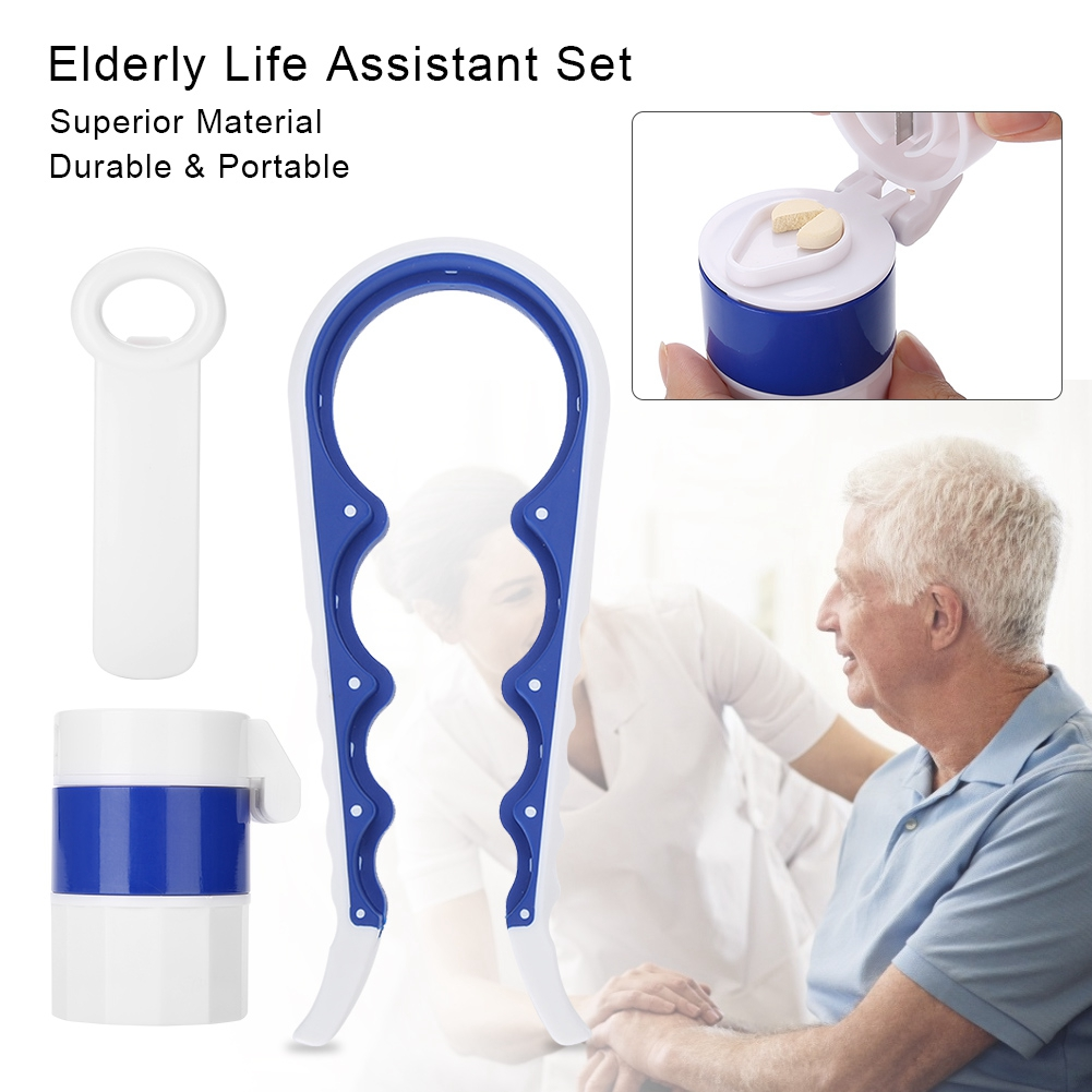 d8acdcf6c8d1 Elderly Life Assistant Pill Medicine Crusher Grinder Storage Box Can ...